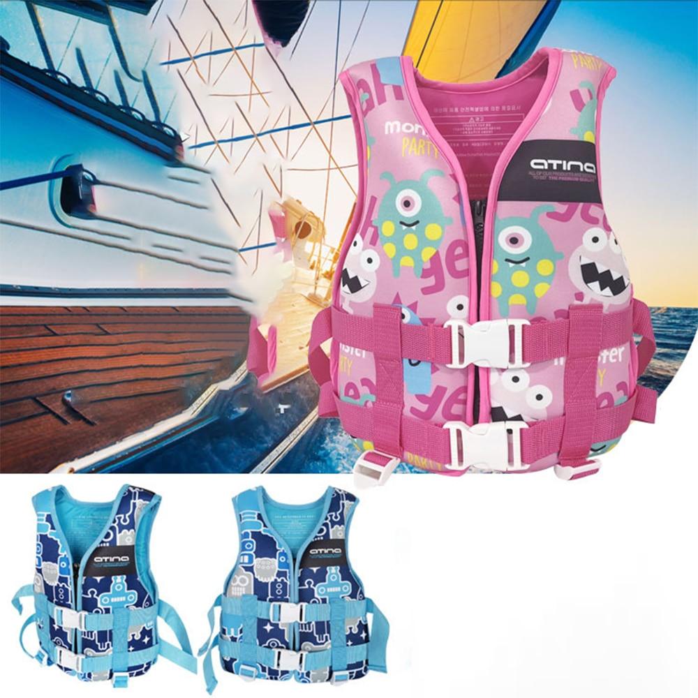 Водный спорт спасательный жилет для детей, детский спасательный жилет для плавания со свистком, для мальчиков и девочек, детское спасательн...