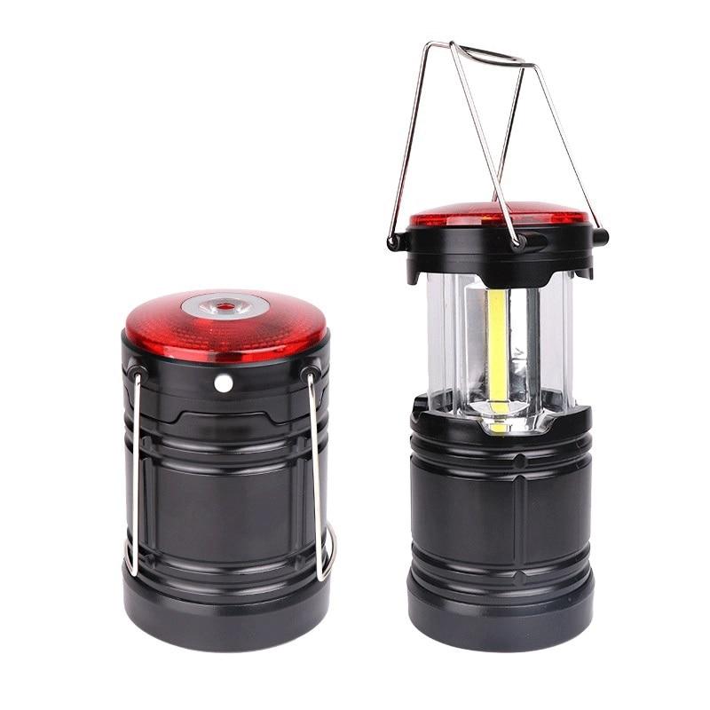 Luz LED portátil de Camping con batería AAA, luz de advertencia de emergencia para campamento, luz de tienda elástica, Luz Portátil Led para exteriores