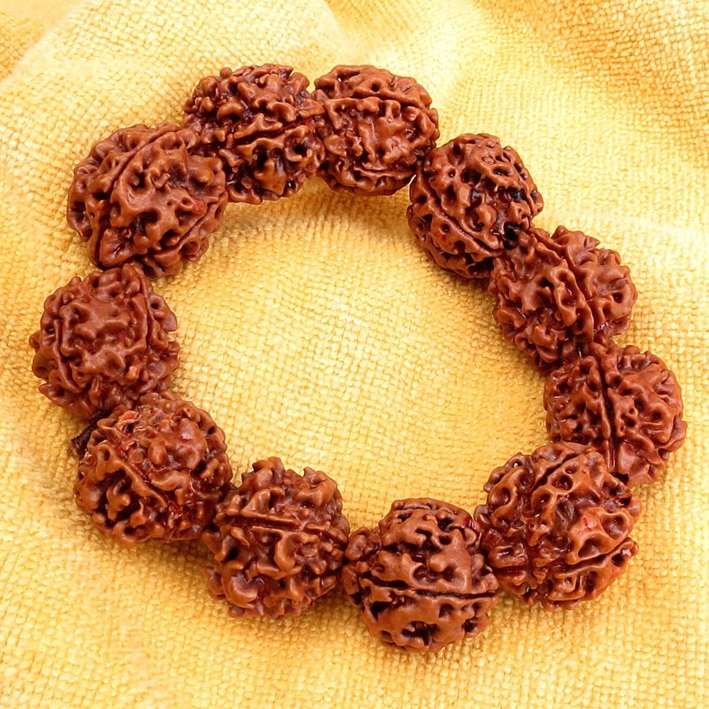 20mm Rudraksha Bodhi Beads Tibet Buddhist 11 Prayer Beads Amulet Bracelet