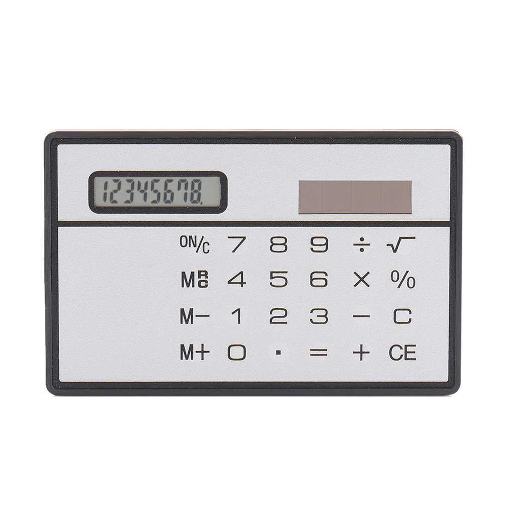 portable solar powered calculator screen 12 digit large lcd display for office daily use lhb99 8 Digit Ultra Thin Solar Power Calculator with Touch Screen Credit Card Design Portable Mini Calculator for Business School