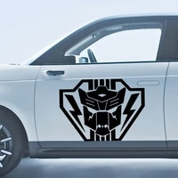 cartoon super hero car stickers reflective waterproof vinyl funny sticker accessories for mazda cruze peugeot