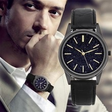 Watch For Men Luxury Casual Fashion Brand Simple dial With Stars Decoration Fashion Wild Belt Watch