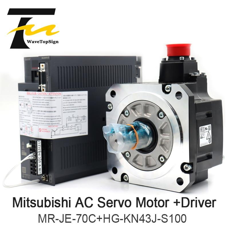 Mitsubishi ac servo motor + driver amplificador MR-JE-70C motor HG-KN43J-S100 series 750 w