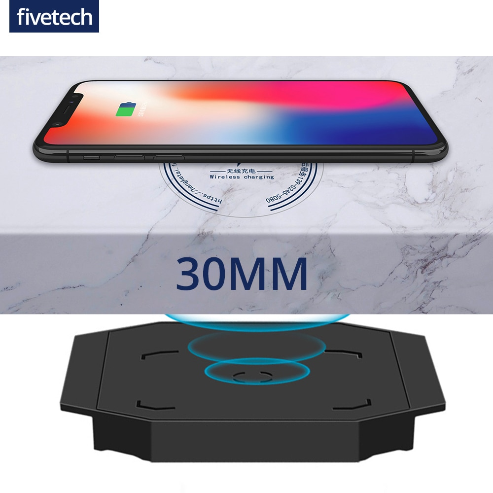30mm Long Distance Wireless Charger for iPhone 11Pro XS XR X 8 Samsung S21 S20 Huawei Xiaomi QI Invi