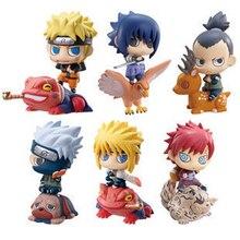 6 pièces/lot Naruto Uzumaki Naruto Kakashi Nara Shikamaru Gaara Sasuke Namikaze Minato mignon PVC figurine à collectionner modèle jouet