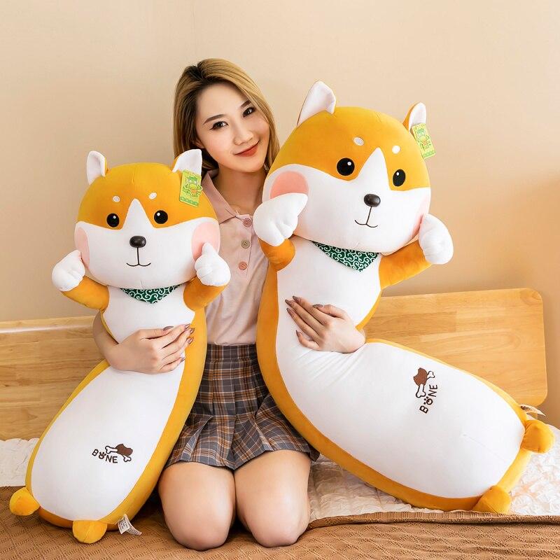 Бесплатная доставка, милая собака Шиба-ину, плюшевая игрушка, мягкое животное, корги чау, подушка, рождественский подарок для детей, кавайны...