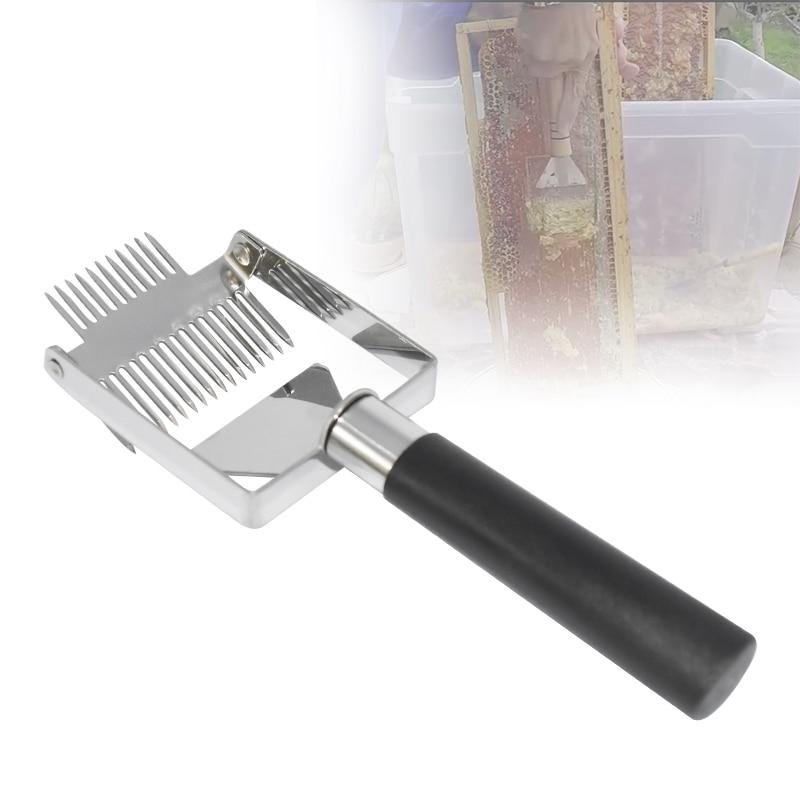 Alat pemeliharaan lebah pemotong madu lebah pemotong plastik pengikis pemegang plastik pengikis sarang lebah membuka pisau garpu sekop