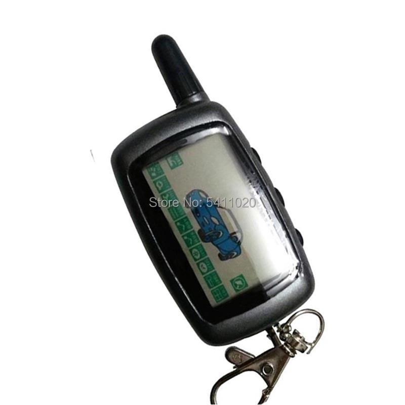 Russian A9 LCD Remote Control Keychain Fob For Two Way Car Alarm System Anti-Theft Key Chain StarLin