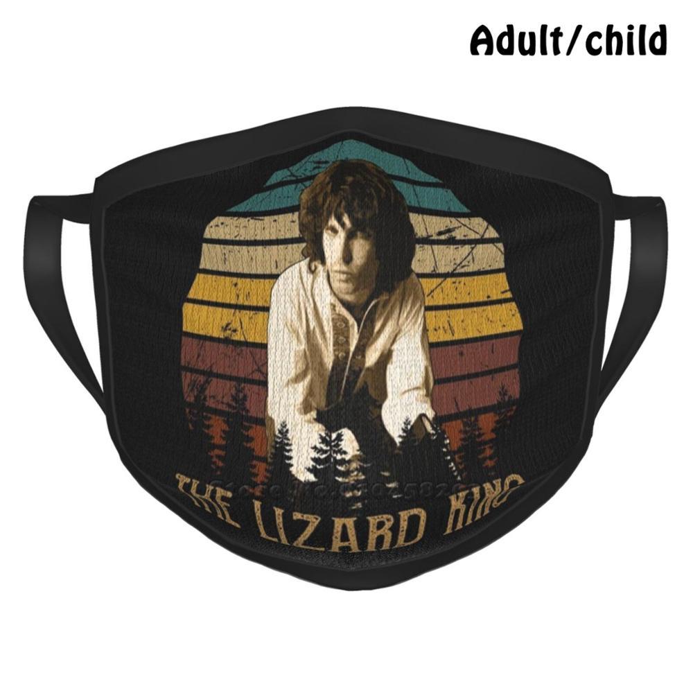Vintage Jim Morrison-The Lizard King Custom Design Face Mask For Adult Kids Anti Dust Jim Morrison Jim Morriso Jim Morrison