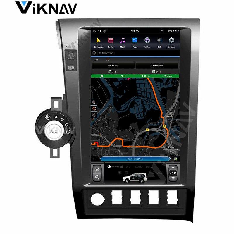 13,6 pulgadas de pantalla vertical reproductor multimedia para auto Toyota Tundra 2007-2011 Sequoia 2007-2018 android reproductor de DVD radio Estéreo