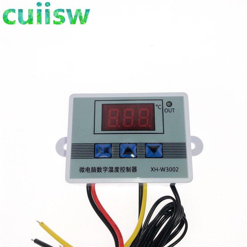 12V 24V 110V 220V Профессиональный W3002 цифровой светодиодный регулятор температуры 10A Термостат Регулятор XH-3002