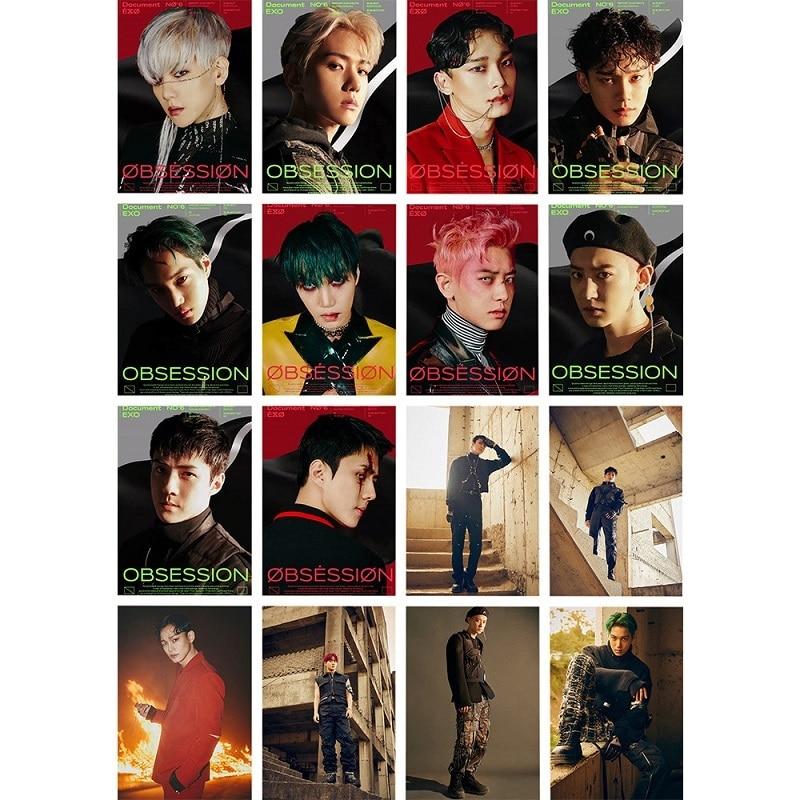 kpop exo s new album obsession peripheral small card lomo card random card x exo park chanyeol chen suho card on sale KPOP EXO's New Album OBSESSION Peripheral Small Card LOMO Card Random Card X-EXO Park Chanyeol CHEN SUHO Card On Sale
