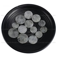 2 100 pcs natural labradorite gemstone flat back round disc circle pendant beads for necklace earrings making 20mm 25mm 30mm