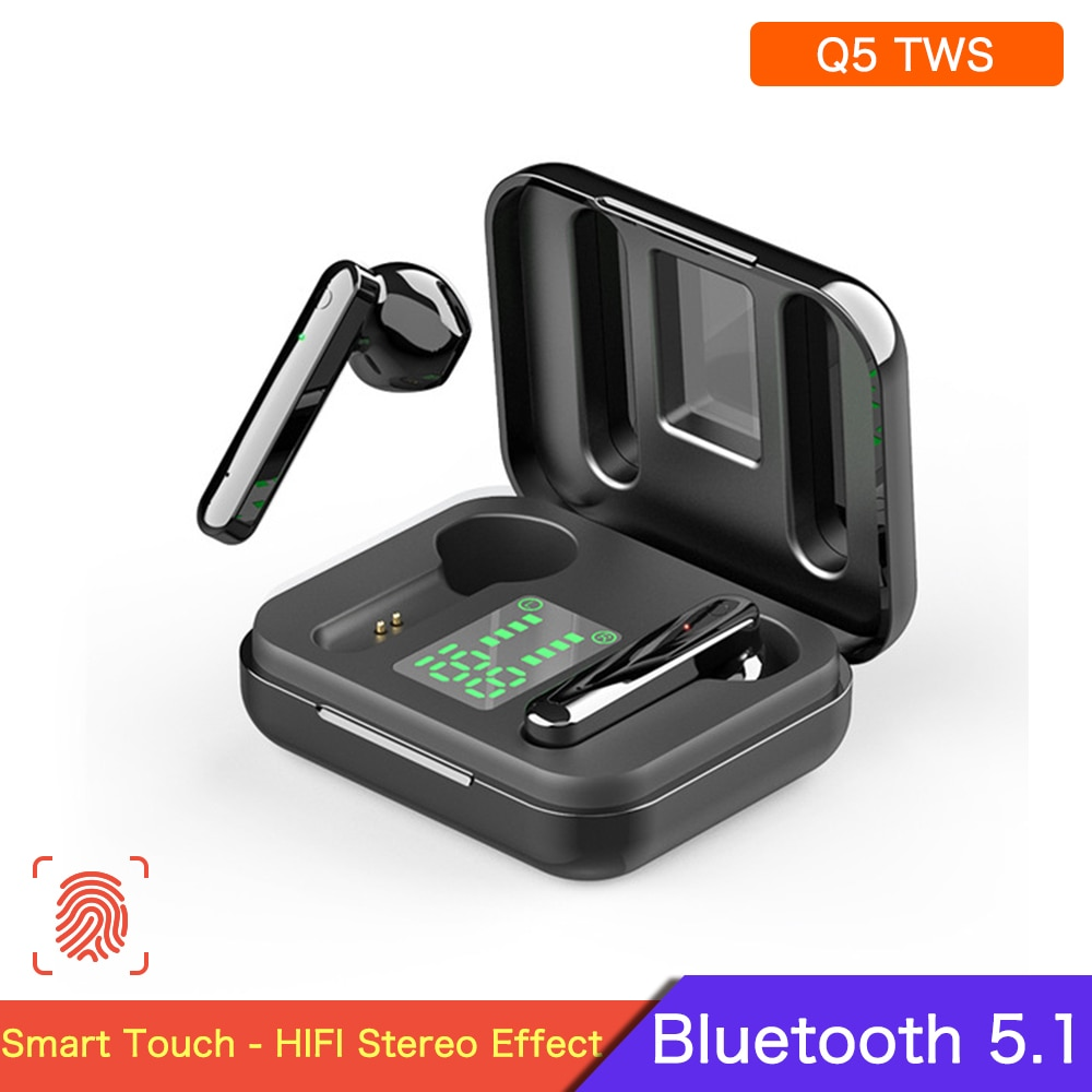 Q5 TWS Wireless Earphones Q3 TWS Bluetooth Earphone Hifi Stereo Sports Running In-Ear Earbuds With LED Display Mic For Xiaomi