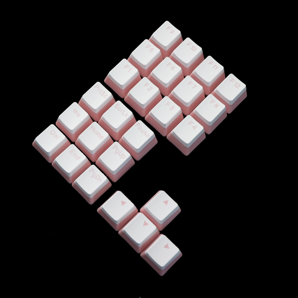 double shot keycap pbt Pudding 21key numpad multimedia key F1-F12 Keycaps enlarge