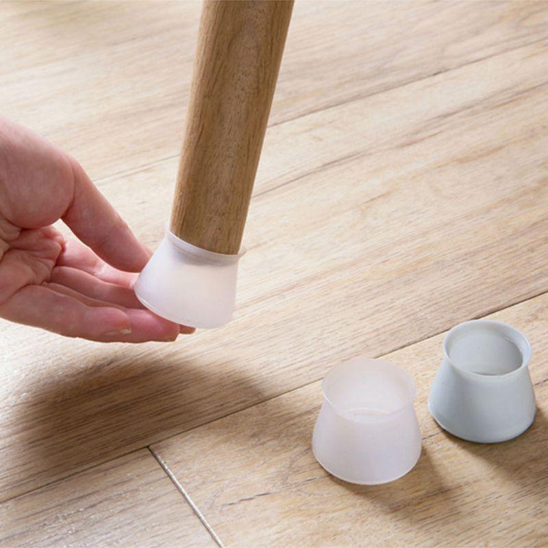 Alfombrilla protectora para silla de pie, alfombrilla protectora de madera dura para muebles, alfombrilla de silicona Universal antideslizante para uso doméstico, 4 unidades