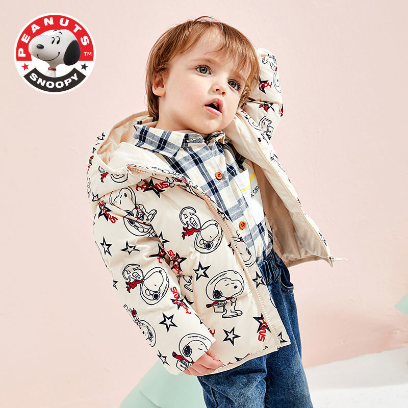 Snoopy Children's Thick Down Jacket Boys and Girls Fall and Winter Warm Down Jacket Baby Down Jacket enlarge