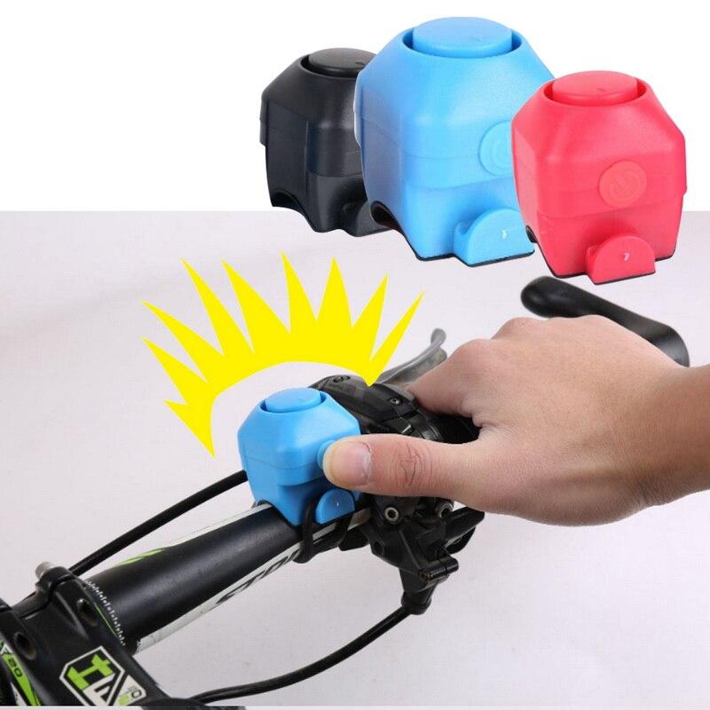 Nuevo timbre eléctrico de seguridad de advertencia electrónico Horn130 db, sirena de policía, alarma de manillar para bicicleta, accesorios para ciclismo