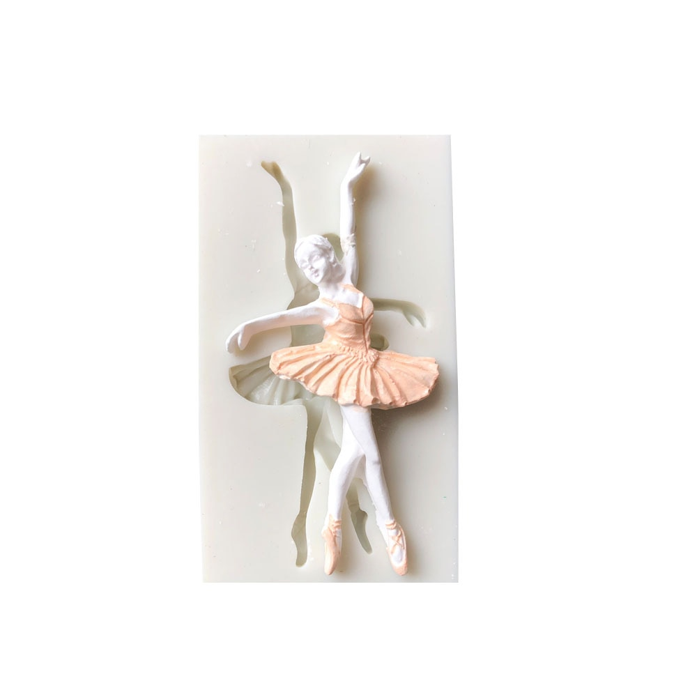 Bailarina de Ballet moldes de silicona zapatos de Ballet Fondant bebé utensilios de decoración para Pasteles de cumpleaños dulces Fimo arcilla Chocolate pastillaje moldes