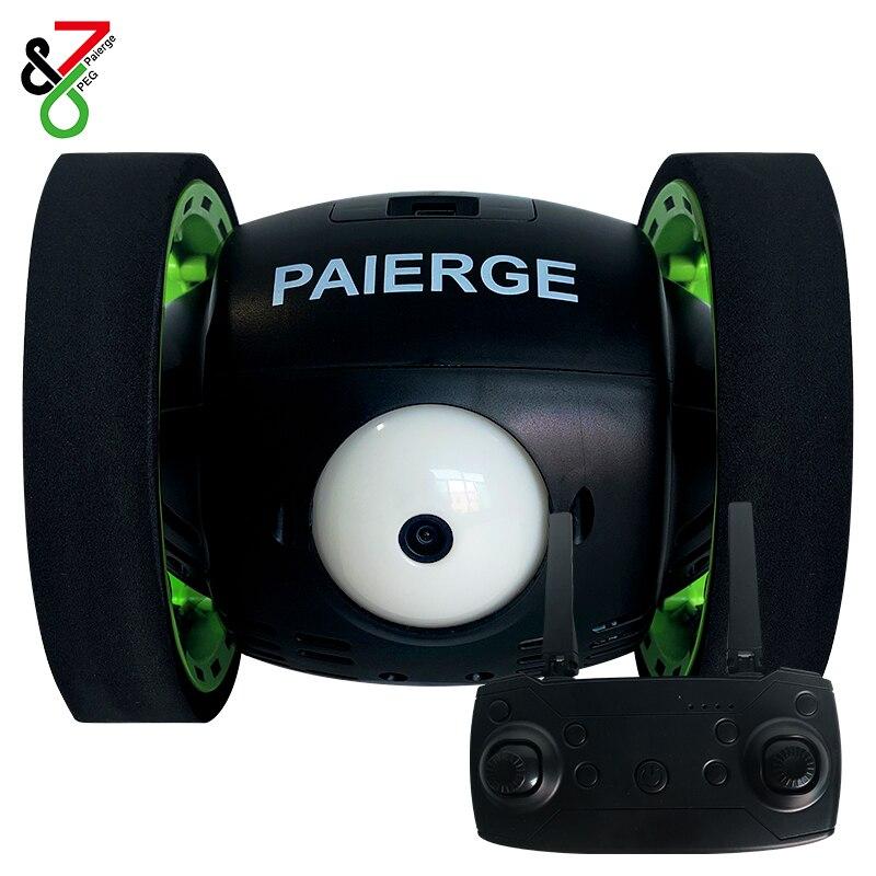 RC Bounce Car PEG-700 2.4G Jumping Car with WIFI camera 2.0mp   HD Flexible Wheels Rotation LED Night Light RC Robot Car