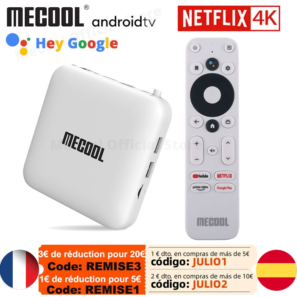 Mecool KM2 ل Netflix 4K تي في بوكس أندرويد Amlogic S905X2 2GB DDR4 USB3.0 SPDIF إيثرنت واي فاي رئيس الفيديو HDR 10 Widevine L1 TVBOX