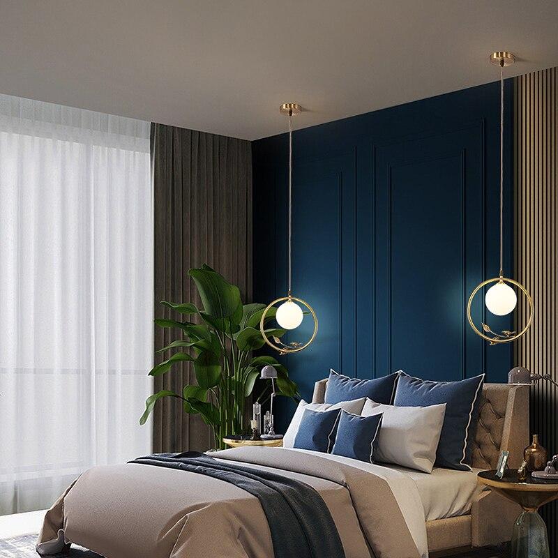 النمط الصيني النحاس قلادة LED ضوء لغرفة المعيشة غرفة الطعام ضوء مطبخ نجفة مضيئة جذابة مصباح بريق المنزل داخلي