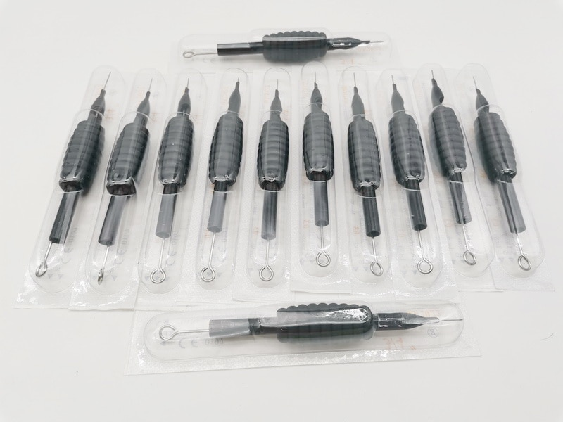 20 шт., одноразовые стерильные Силиконовые тату-ручки, 7RS, 9RS 20 шт одноразовые стерильные силиконовые тату ручки 7rs 9rs