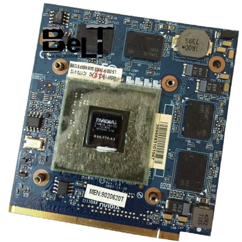 Placa vga geforce 8600m gs LS-3581P placa gráfica 8600mgs mxm ii ddr2 512mb G86-770-A2 para acer 5920g 5520g 5720g 7720g 4720g