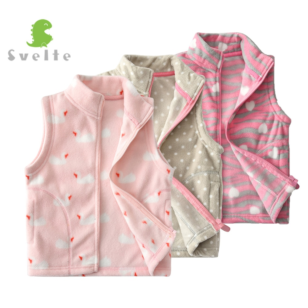 SVELTE for 2-7 Y Children Cute Girls Fleece Vest Kids Woolen Fur Waistcoat Vetement Enfant Gilet Veste Spring Fall Winter