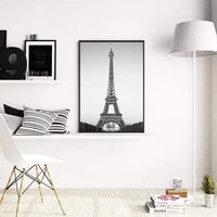 eiffel tower decor canvas paintings poster wall art prints black and white paris landscape unframed for home living room decor