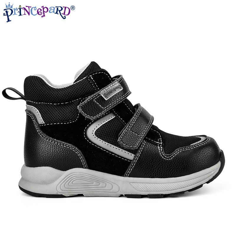 Princepard  New Closed Toe Autumn Baby Black Children Medical Flat Foot Orthopedic Shoes Corrective Shoes With Arch Support enlarge