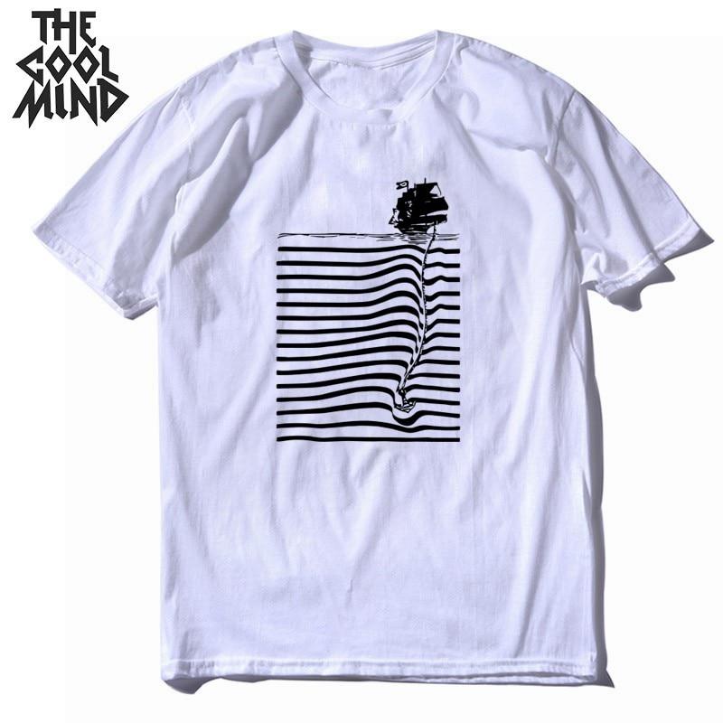 COOLMIND, Camiseta 100% de algodón de manga corta para hombres, camiseta casual de verano con cuello redondo para hombres, camiseta suelta, camisetas para hombre, CR-B0106