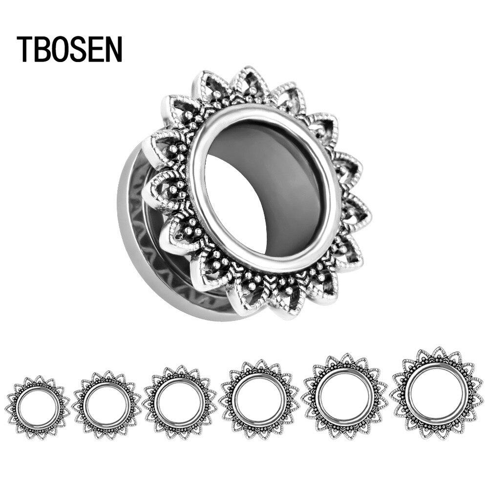 Nuevos expansores de piercing de acero inoxidable de moda, expansores de joyería del cuerpo Oreja, el mejor regalo para mujeres y hombres, par en venta