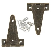2pcs antique bronze flat t hinge for barn gates vintage jewelry wooden box hinges kitchen cabinet door gate household supplies