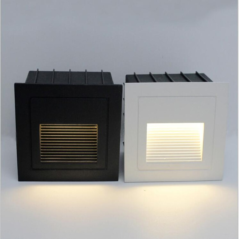 في الهواء الطلق إضاءة مقاومة للماء ضوء القدم 2 واط المدمج في جزءا لا يتجزأ من إضاءة جدارية خارجية مقاوم للماء أضواء لدرجات السلم أضواء لدرجات ...