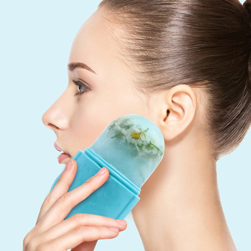 Reusable Icing Cooling Face Roller Ice Massage Cups Reusable Facial Skincare Tool For At-Home or On-the-Go Mini Cold Massage
