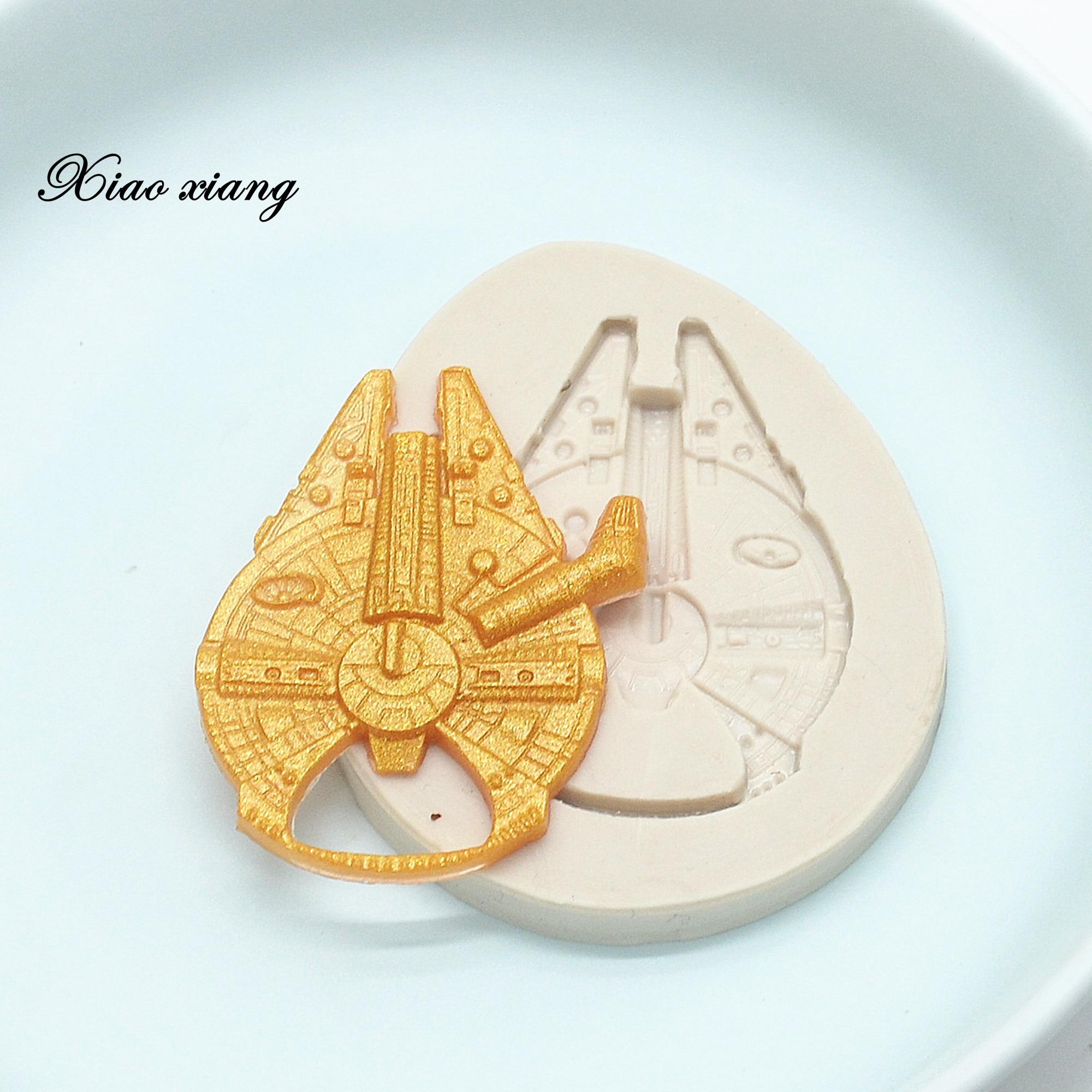 3D космический корабль, силиконовые формы для помадки, формы для выпечки шоколада, смолы, инструменты для украшения тортов, кондитерские изд...