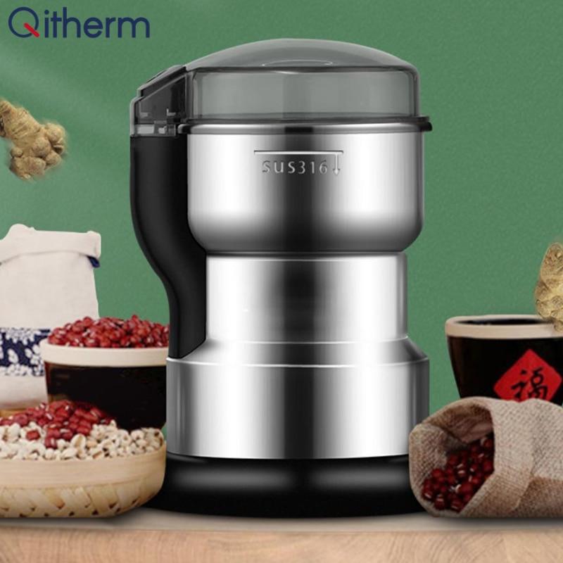 مطحنة بن كهربائية متعددة الوظائف المطبخ الحبوب التوابل حبوب البن ماكينة الطحن ماكينة صغيرة للطّلاء بالمساحيق مطحنة مطحنة حبوب القهوة
