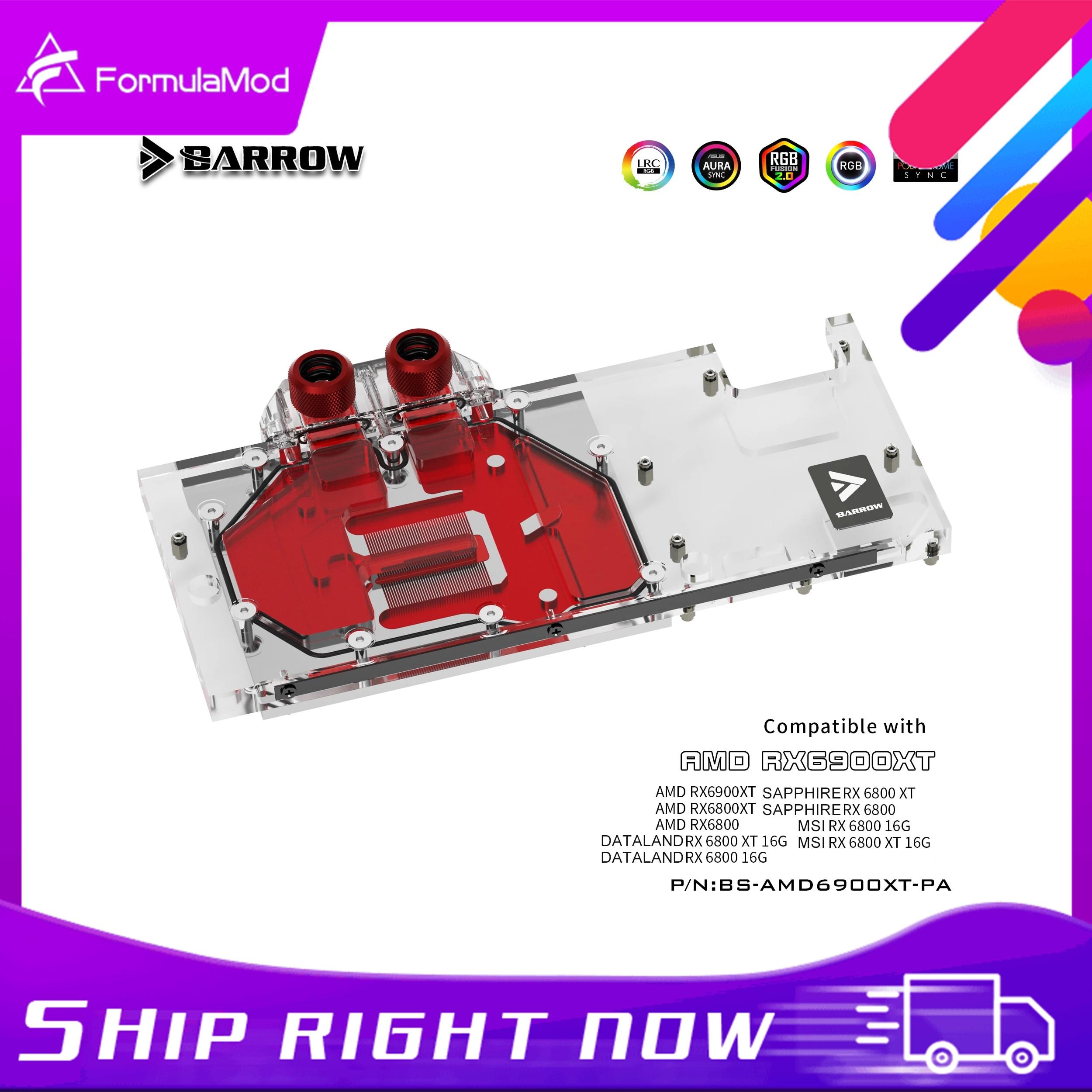 بارو 6900 وحدة معالجة الرسومات كتلة تبريد المياه ، التغطية الكاملة ل AMD مؤسس الطبعة MSI الياقوت RX 6900 6800 XT ، BS-AMD6900XT-PA