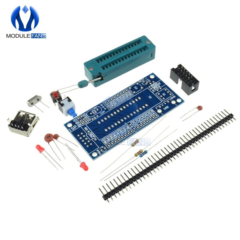 ATmega8 ATmega48 AVR минимальная система макетная плата миниатюрный мини электронный набор деталей DIY набор без чипа 8 м кристалл