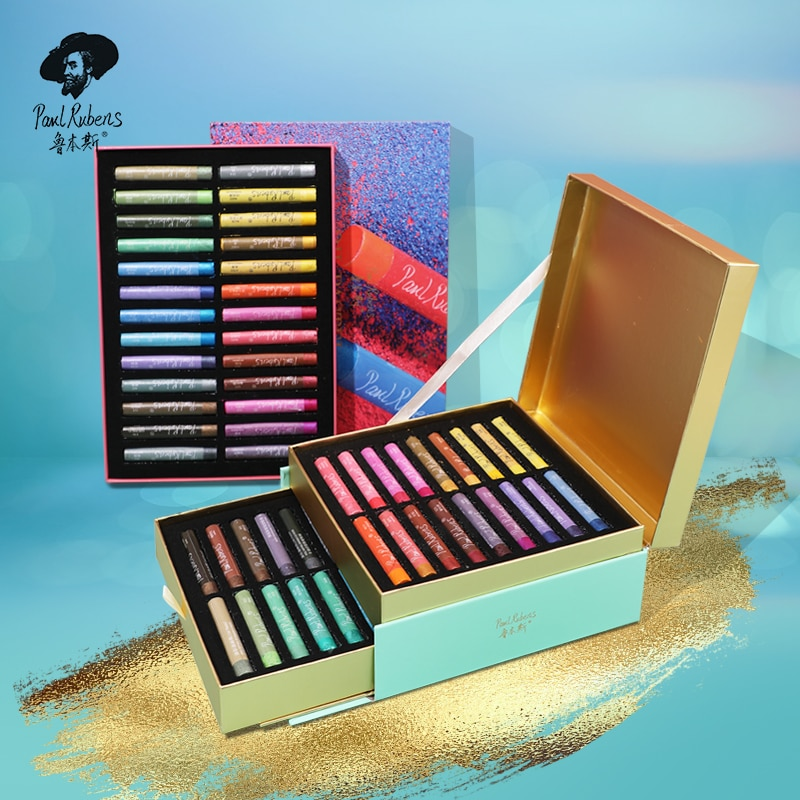 Paul Rubens Pearlescent Oil Pastel 24/36 Color Set Oily Graffiti Soft Crayon Artist Painting Professional Art Supplies