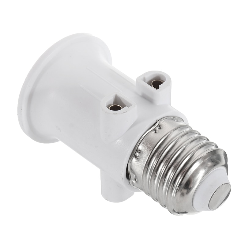 AC100-240V 4A E27 ABS EU Plug Connector Accessories LED Bulb Adapter Lamp Holder Base Screw Light So