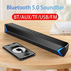 2020 ТВ звуковая панель AUX USB проводной и беспроводной Bluetooth домашний кинотеатр FM радио Панель объемного звука ПК динамик Компьютер Саундбар