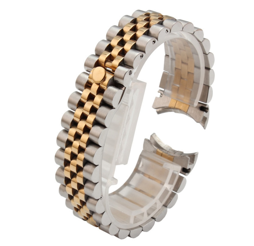 Watch strap steel strap bracelet men's stainless steel arc watch chain stainless steel for rolex watch Datejust