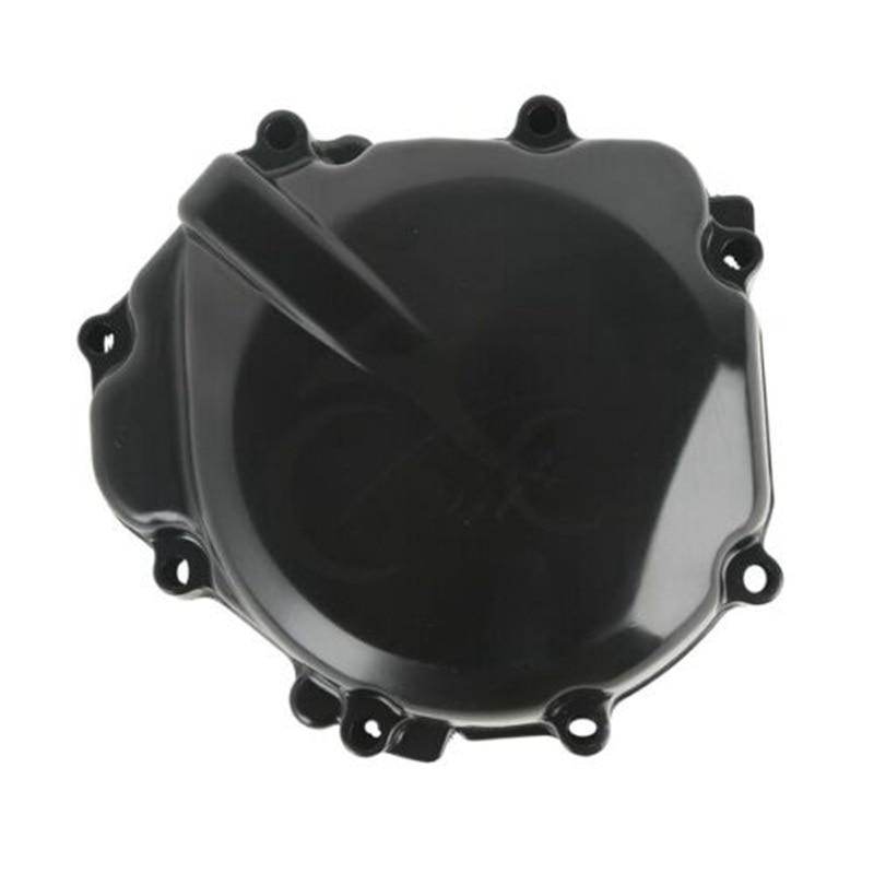 Motocicleta esquerda estator motor cárter capa para suzuki gsxr 600 750 2004-2005 gsxr1000 2003-2004 gsr400 2006-2011 preto