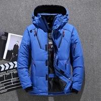 mens down parka jacket coat 2020 winter thermal male 2020 winterthick windproof hooded parka green black blue gray orange m 3xl