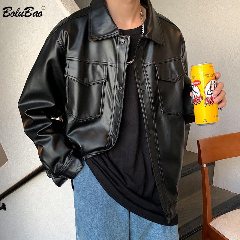 BOLUBAO Fashion Men Casual Leather Jackets Winter New Jacket Street Style Male Inside Thick Coats Men's Leather Jacket