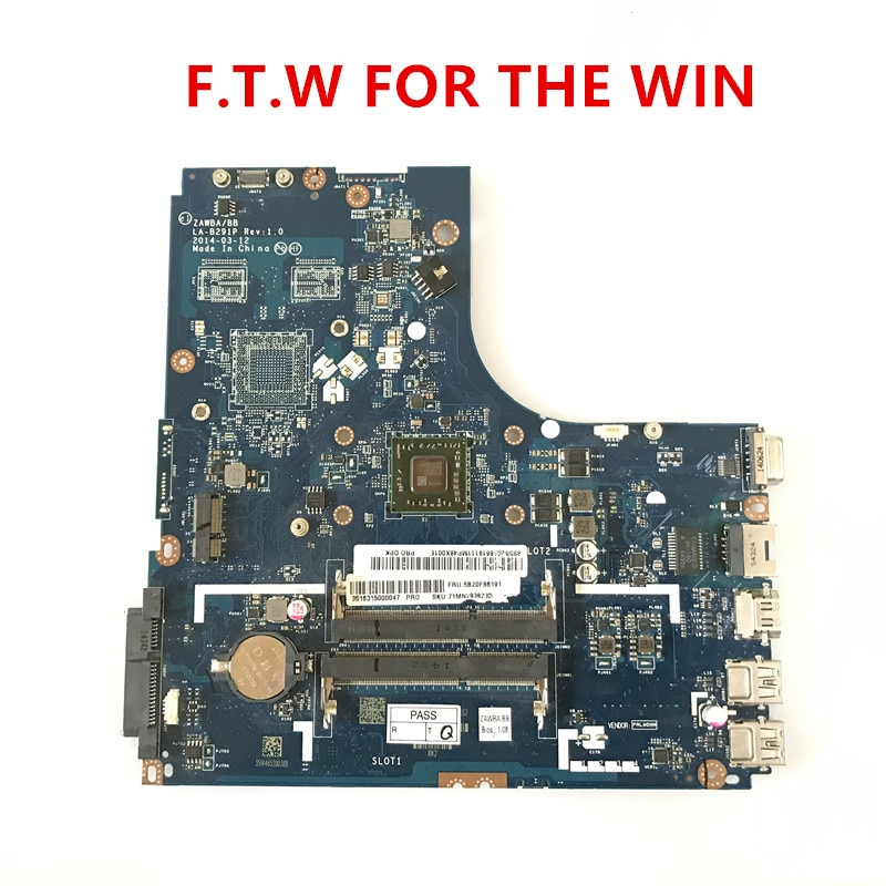 Placa-mãe do Portátil para Lenovo B50-45 Zawba Perfeitamente 100% Testado ok La-b291p A8-6410 Cpu