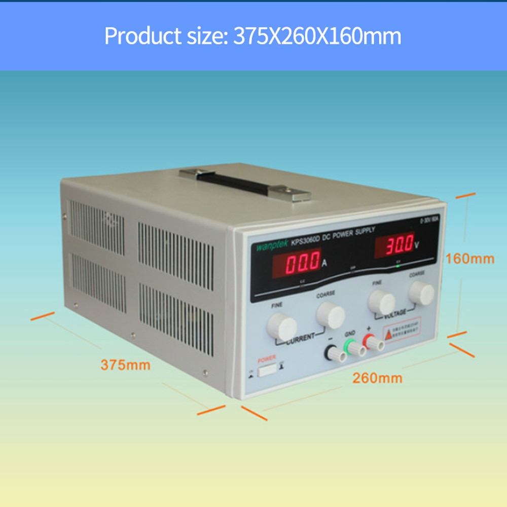 KPS6010D 60 فولت 10A مزود طاقة عالي القدرة 600 واط 30 فولت/20A مختبر امدادات الطاقة ، قابل للتعديل 0.1A التبديل تيار مستمر امدادات الطاقة
