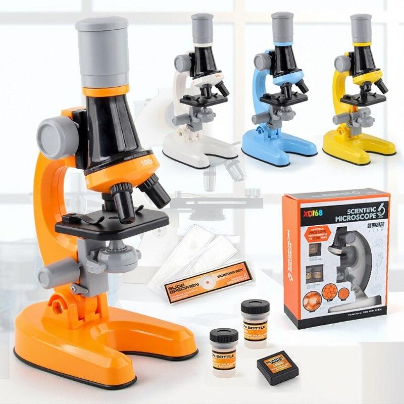 kit de microscopio led de alto nivel escola cientifica brinquedo educativo refinado